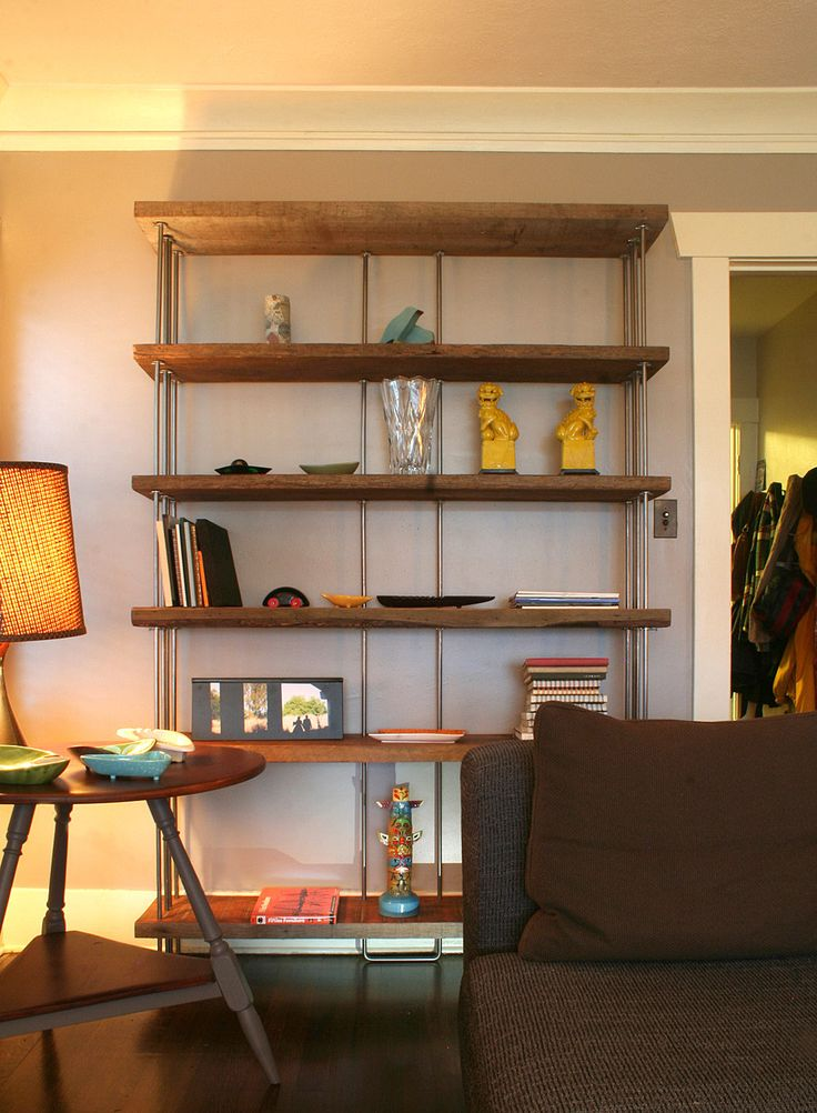 Live Edge Wood And Metal Bookcase Google Search