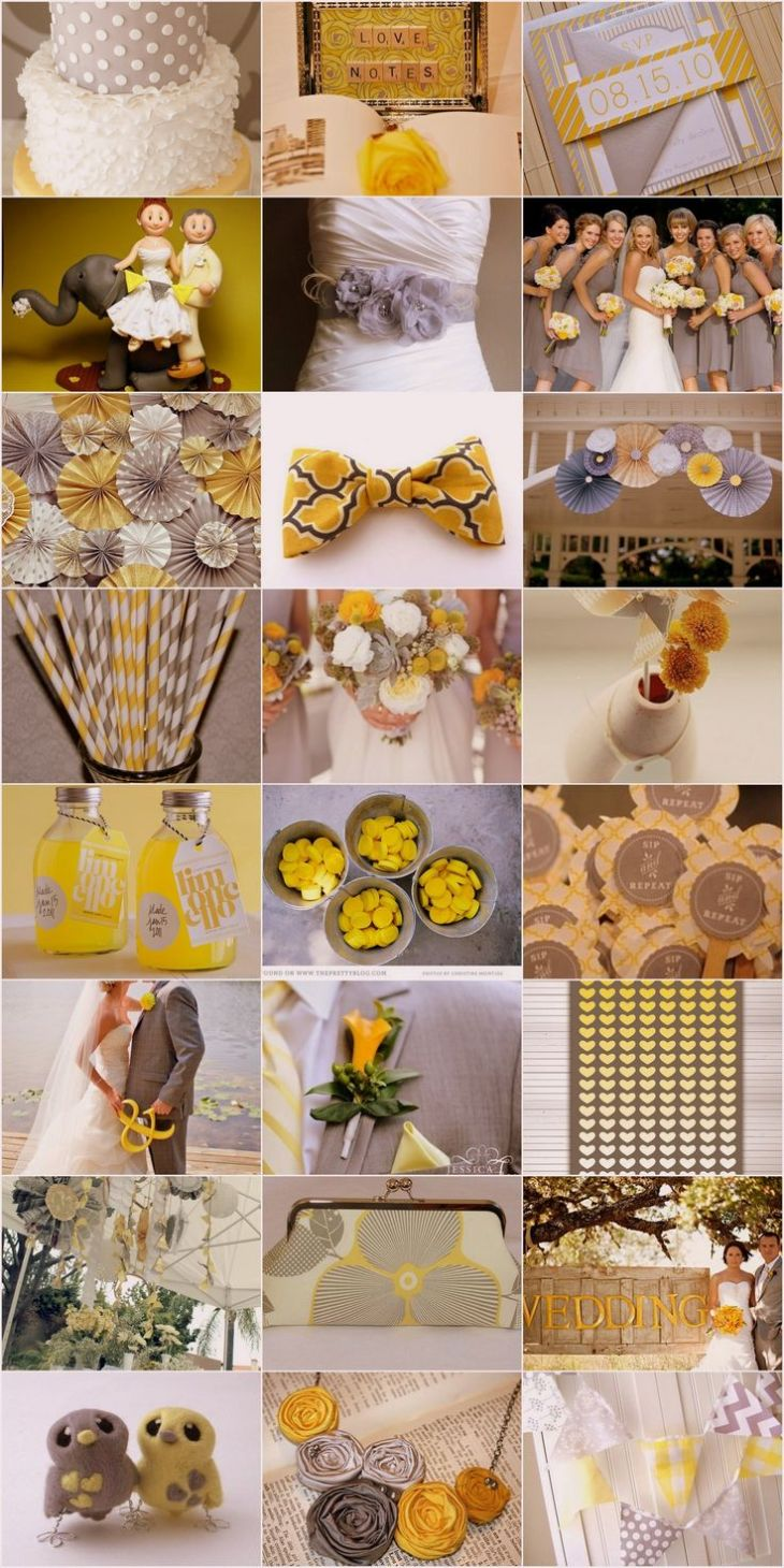 The  best images about Yellow and grey wedding ideas on Pinterest