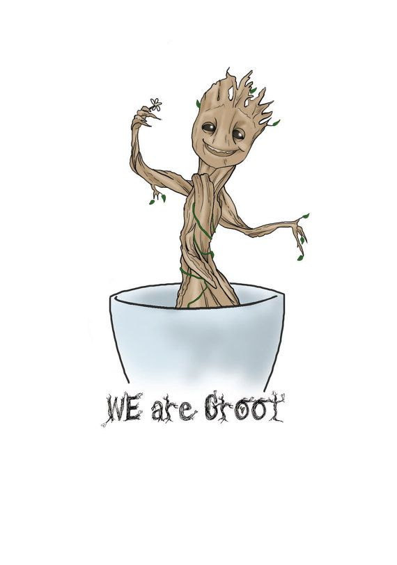 We Are Groot Valentines Day Card Guardians Of The