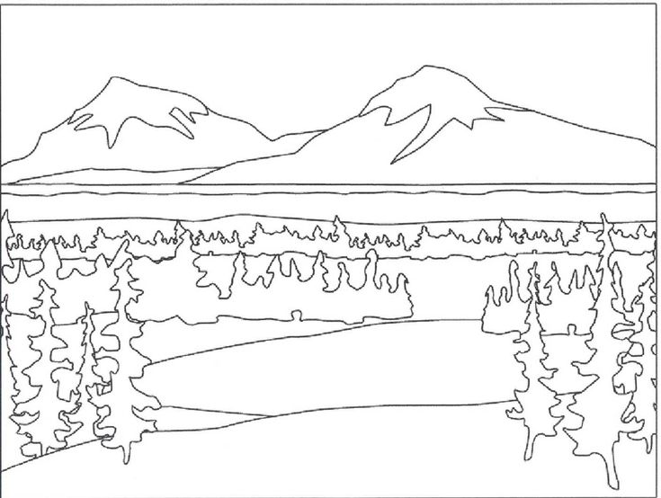mountain landscape coloring pages  my nursery class