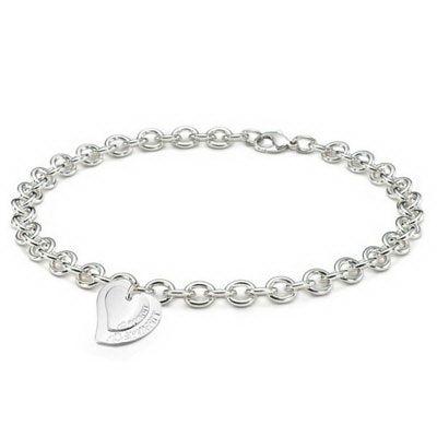Tiffany & Co Heart Doughnut Link Necklace