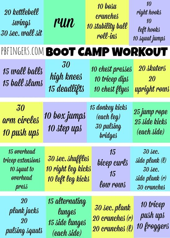 25 Best Ideas About Boot Camp Workout On Pinterest Full