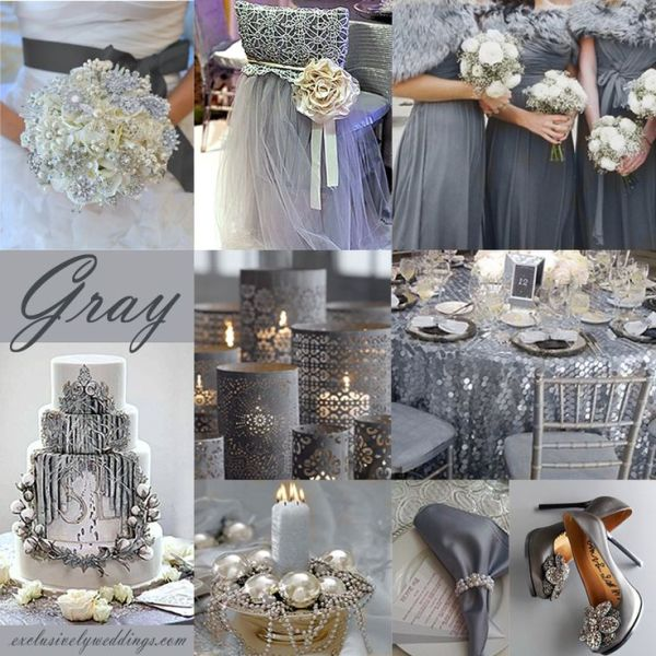 Gray Wedding Color Theme