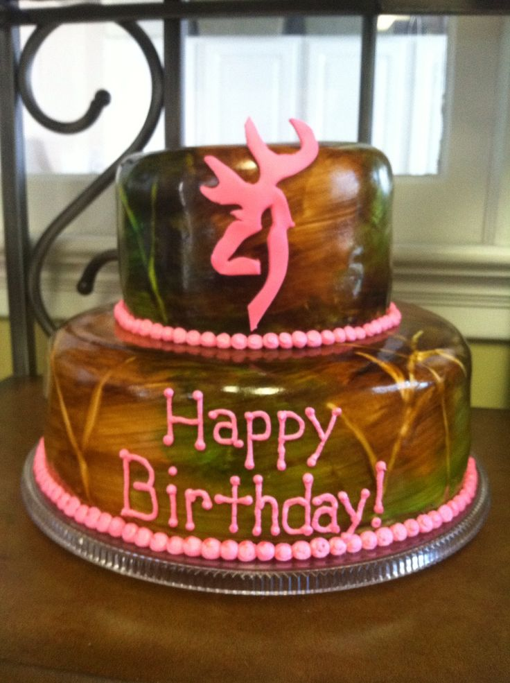 Pink Browning Amp Camo Birthday Cake Devyn Wants This One