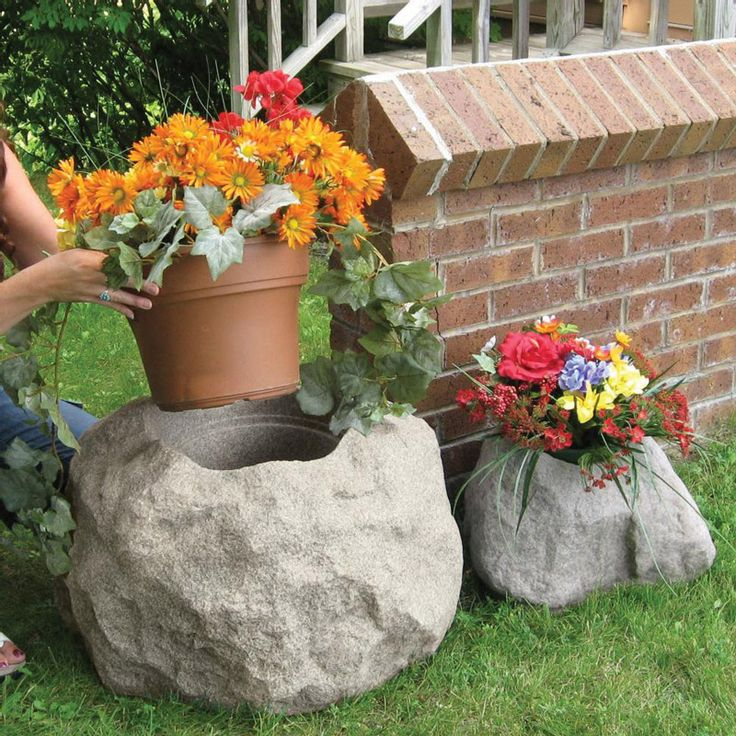 17 best images about stone planters pots and vases on on best rock garden front yard landscaping trends design ideas preparing for create id=88638