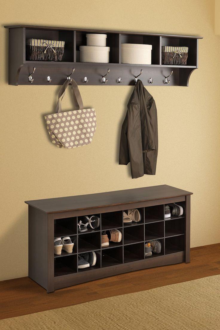 shoe storage espresso cubbie bench on hautelook on shoe rack wooden with door id=66992