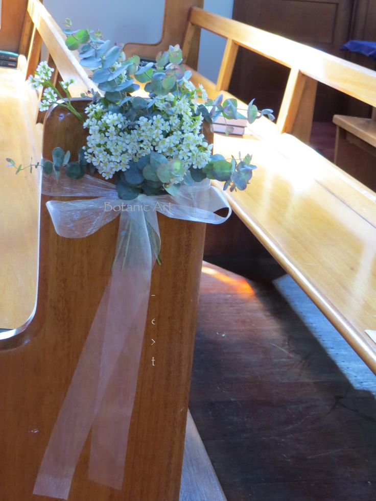 Pew Ends Church Ceremony Flowers Posies Blue Gum