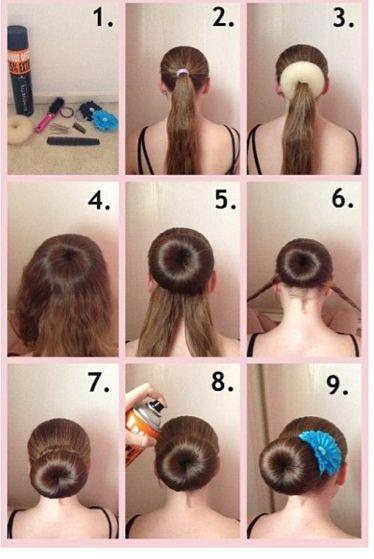 1000 Ideas About Donut Bun On Pinterest Sock Buns Easy