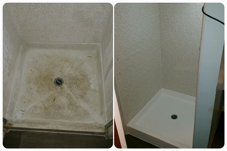Dont Replace That Worn Out Fiberglass Shower Pan Reglaze It Bathtub Reglazing Pinterest