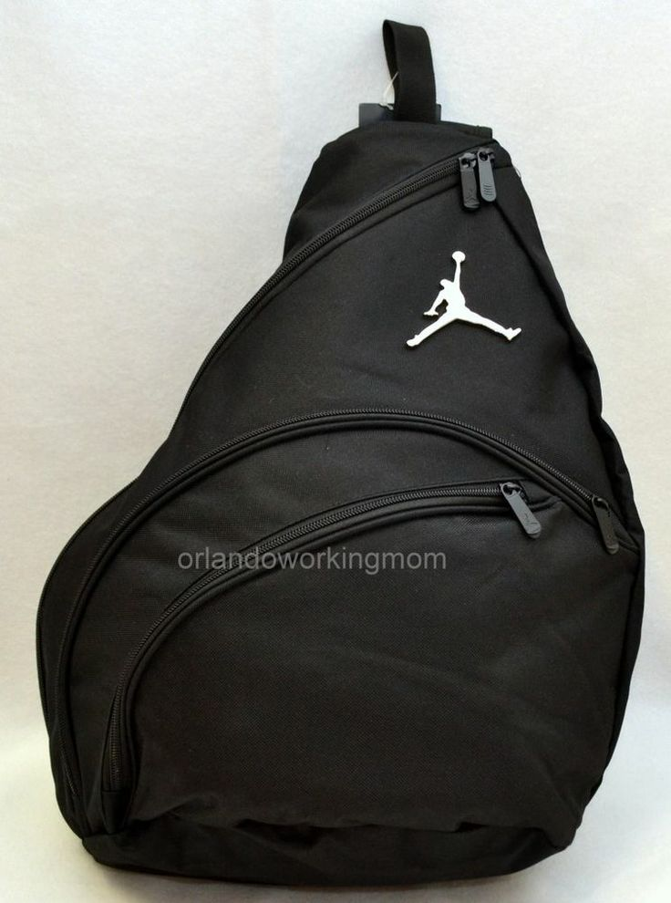 Nike Air Jordan Sling Backpack Jumpman Black Men Women Boy