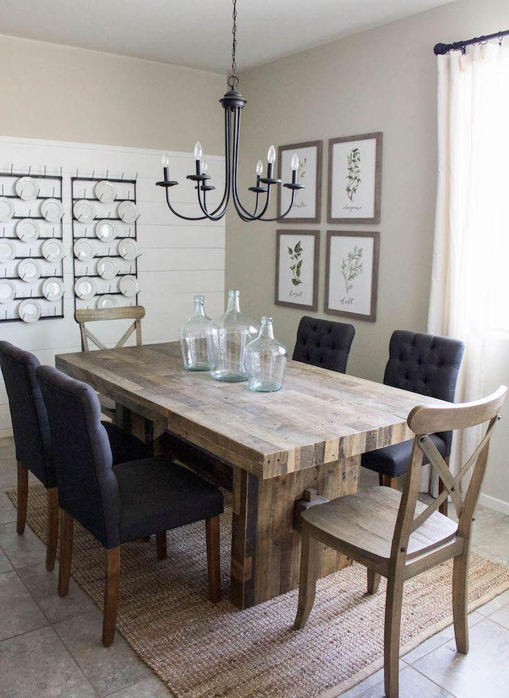 Modern Farmhouse Dining Room Amp DIY Shiplap Home Sweet