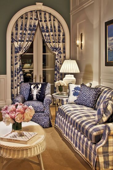 Casual yet formal.  This is so much like my first home.  So fun to decorate a bi