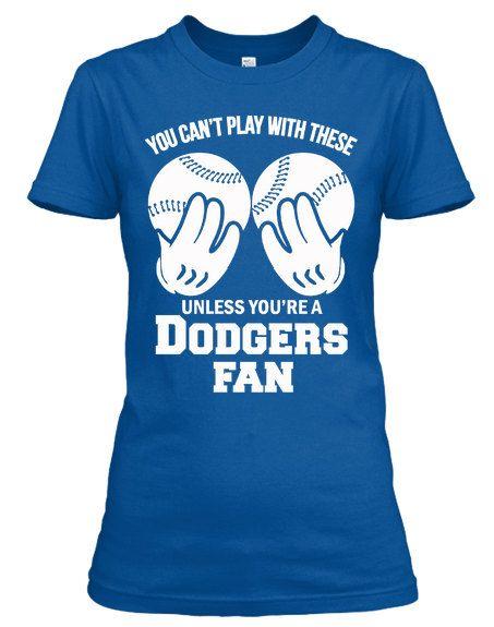 Ladies Dodgers Fan Baseball Shirt   Dodgers   Pinterest