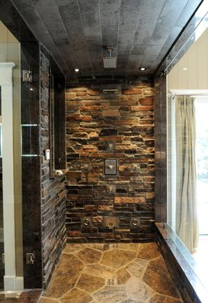 Stone Shower Stones And Shower Heads On Pinterest