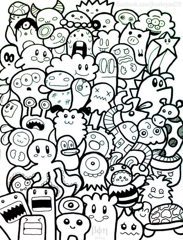 25 Best Ideas About Doodle Monster On Pinterest Cute