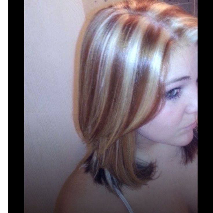 Copper Red Hair And Blonde Highlights Hairtastic