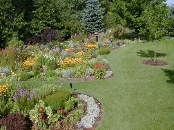 flower garden landscaping large garden design ideas | Flower garden ideas for large