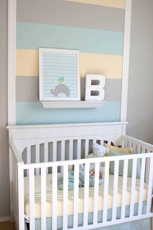 A break from the traditional primary color scheme for baby boys, were fans of th