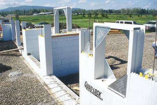 Insulated Concrete Forms (ICF) Construction Detail Photos