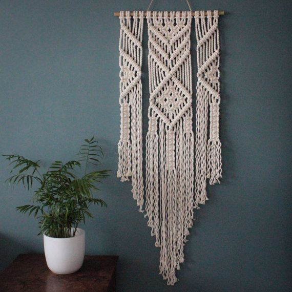 macrame wall hanging emma 100 cotton cord in natural on macrame wall hanging id=55353