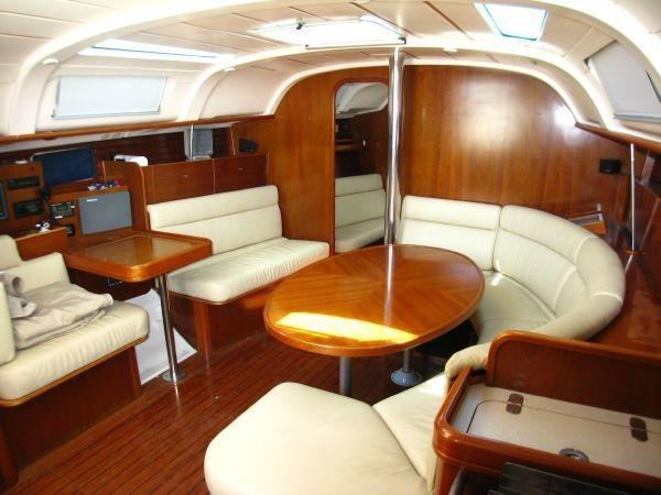 Interior Of 40 Sailboat Main Cabin A Sailboat