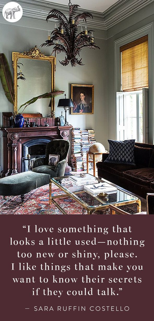 We couldn't agree more! See more quotes from interior editor and founding creative director of Domino Magazine, Sara Ruffin Costello, in her beyond-gorgeous home tour on our blog::