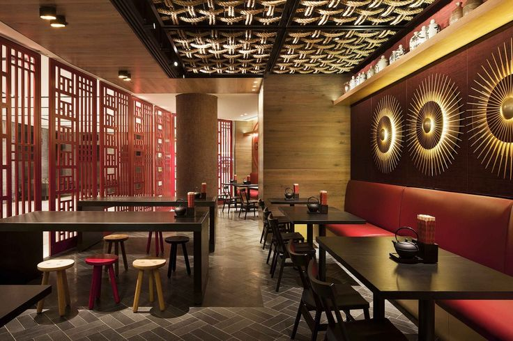 chinese restaurant interior design idea with touched red on great wall chinese restaurant id=79925