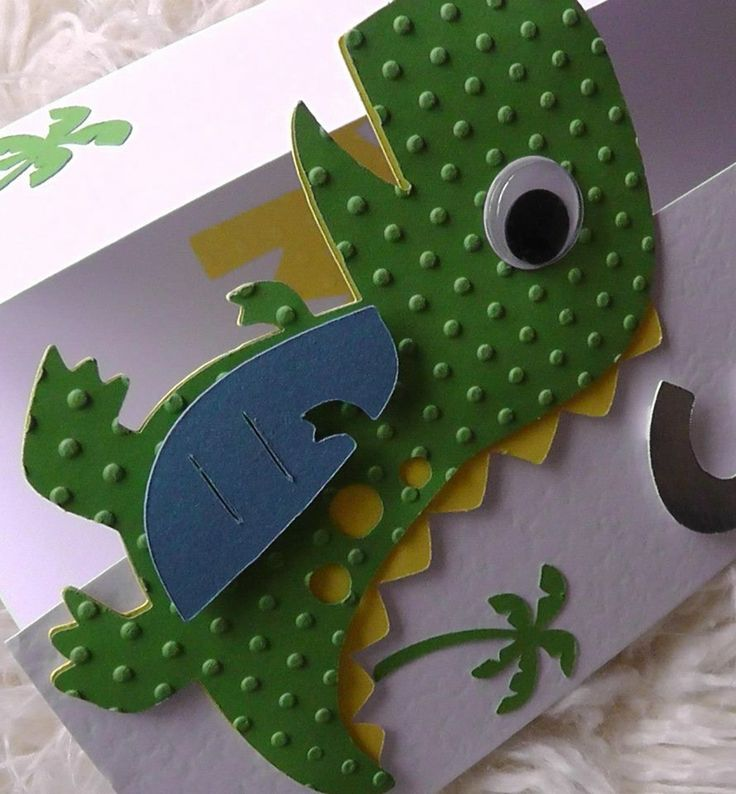 Cricut Dinosaur Card Cards Children Pinterest