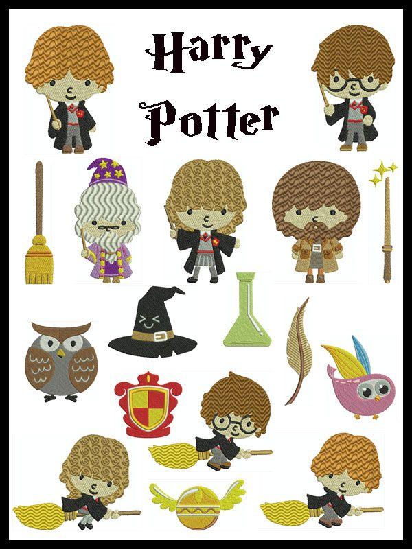 Harry Potter Machine Embroidery 17 Designs Stickdateien