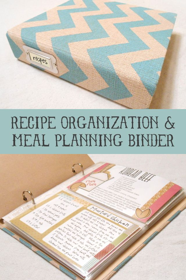 Recipe Organization and Meal Planning Binder… I WISH I could be this organized!