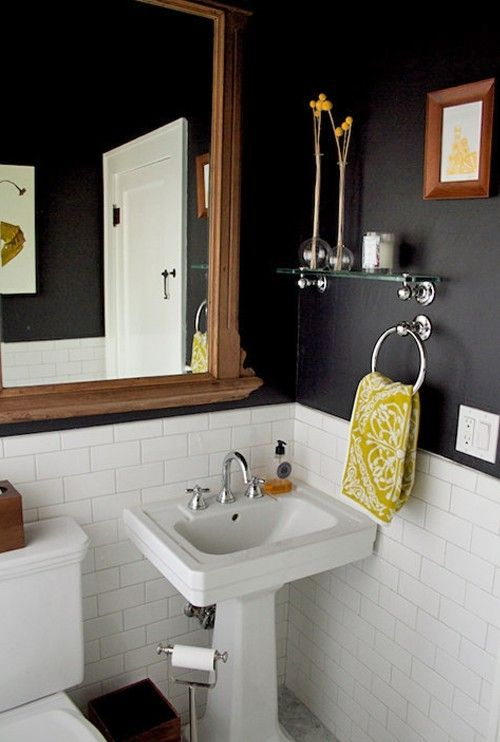 Black Amp Yellow Bathroom By Lynn Love The Tile On The