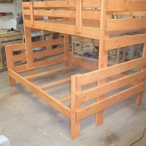 Twin Over Full Bunkbed custom made by Cry'n Crick Custom WoodWorking