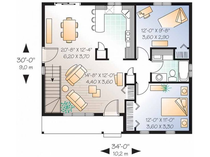 Get Small House, Get Small House Plans : Two Bedroom House