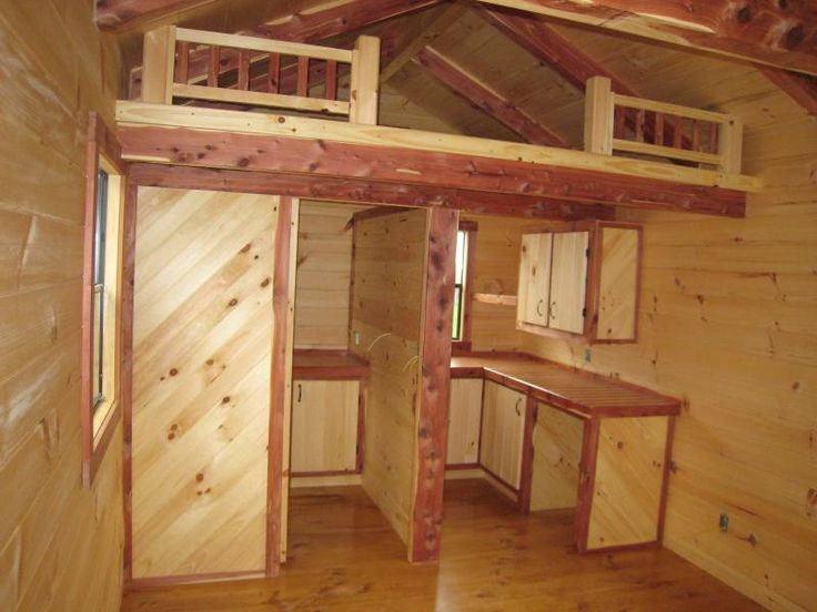 Small Hunting Cabin Interiors Built In Bunk Bed Unit