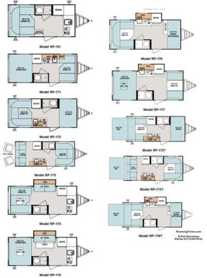 2011 Forest River RPod travel trailer floorplans  11 models  small picture, click for a