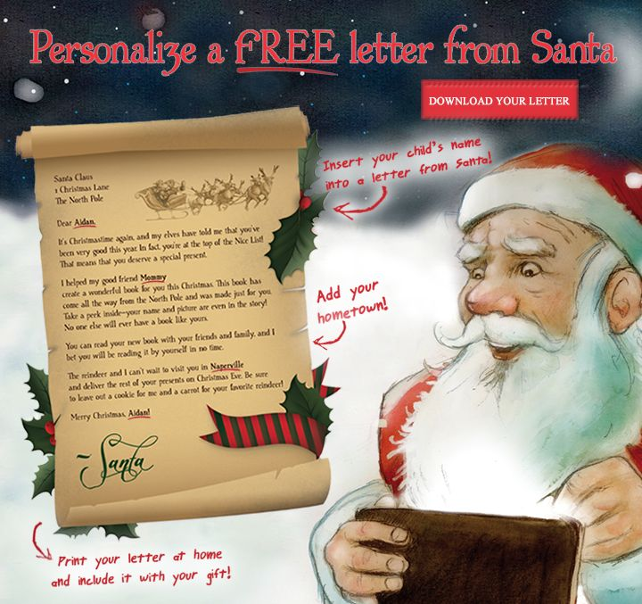 Download Your Free Personalized Letter From Santa Fun