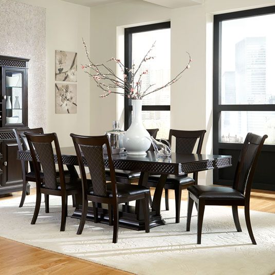 Sonoma 7pc Dining Set Table Amp 6 Side Chairs Jeromes