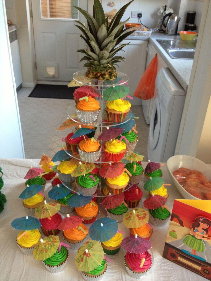 Hawaiian Cupcakes Cupcakes Pinterest Hawaiian