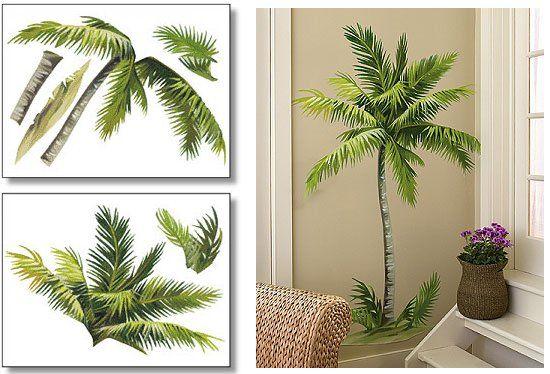 Wallies Palm Tree Big Wall Mural