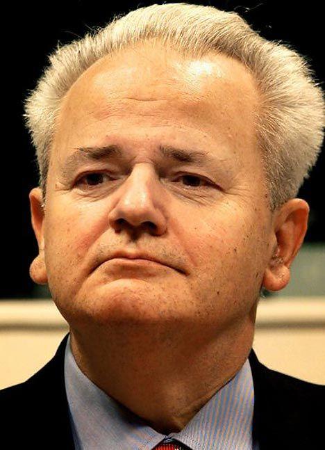 War criminal Slobodan Milosevic; Ex-President of Serbia ...