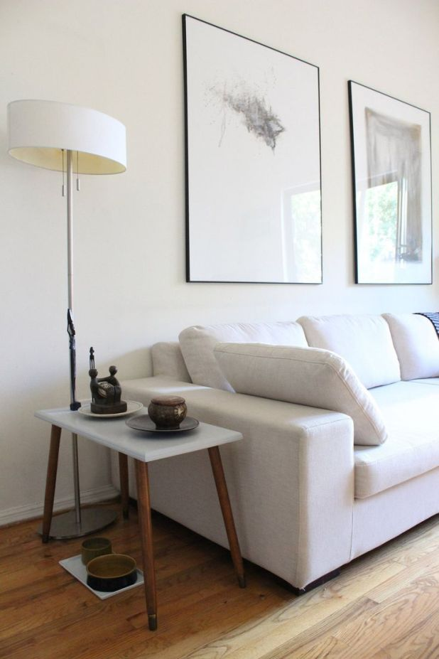 how high should a picture be hung above sofa. Black Bedroom Furniture Sets. Home Design Ideas