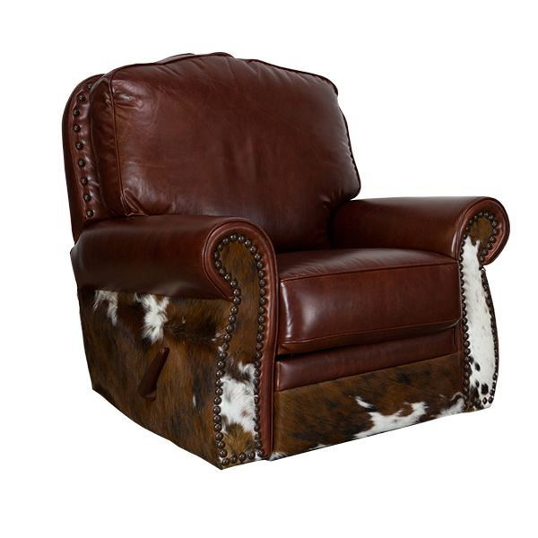 Leather Cowhide Glider Swivel Recliner Furniture Fancy