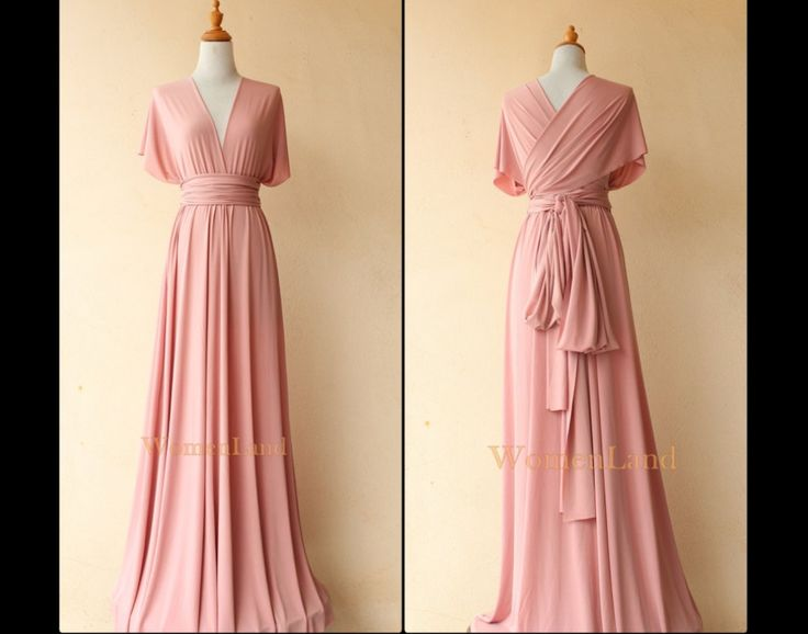 Pastel Peach Fabric For Infinity Dress Convertible