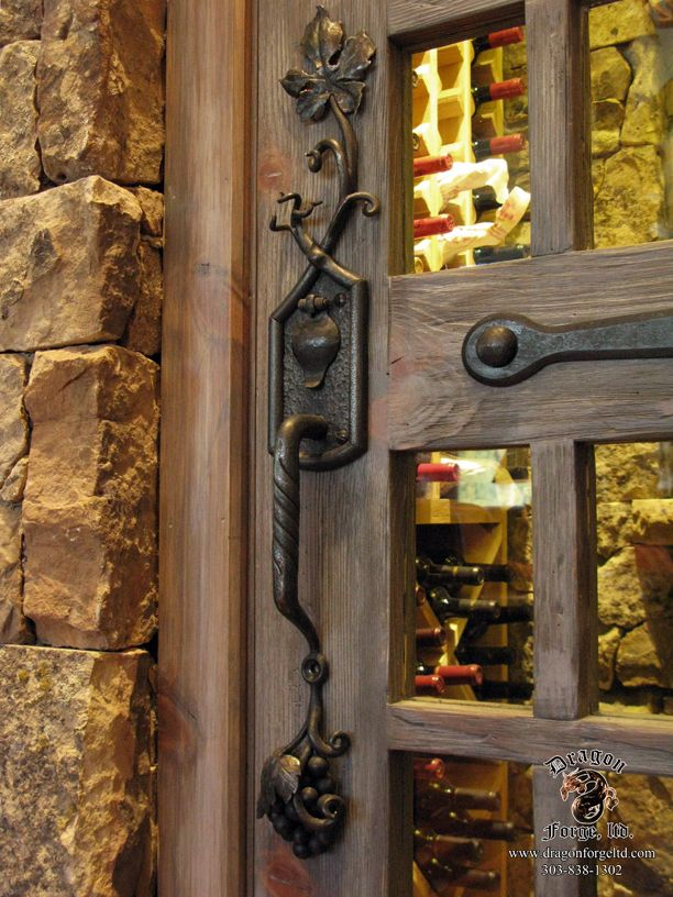 Arts And Craft Wine Cellar Door Pull Home Design
