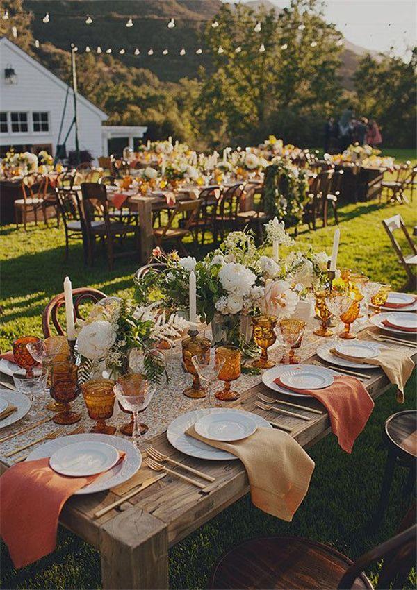 1000 Ideas About Farm Table Wedding On Pinterest Long