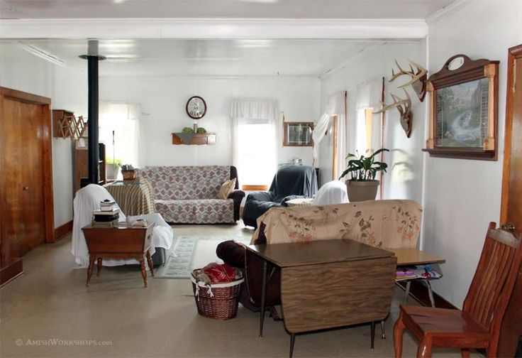 What Catches Your Eye In This Simple Amish Living Room