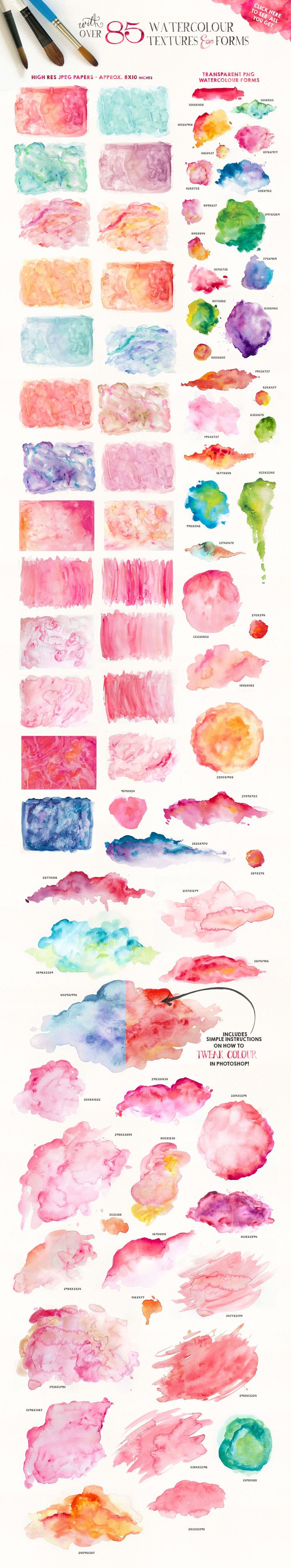 We don't all have the time or energy to whip up watercolour splotches and splashes when its just what our project needs…so