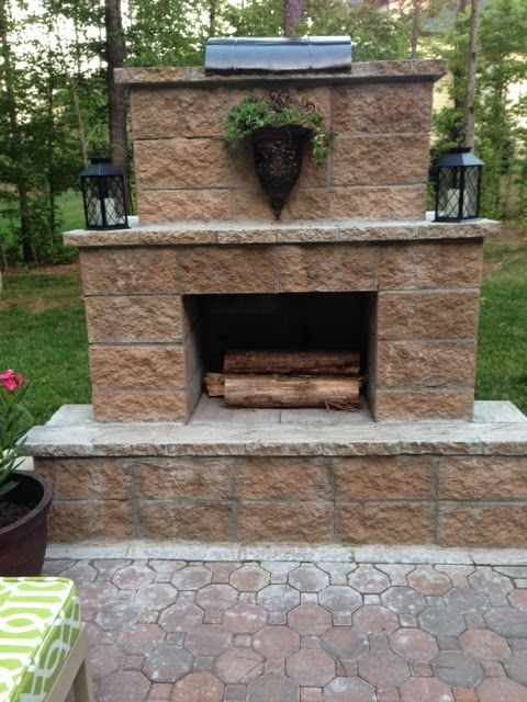 214 best images about Cement block on Pinterest | Cinder ... on Building Outdoor Fireplace With Cinder Block id=51338