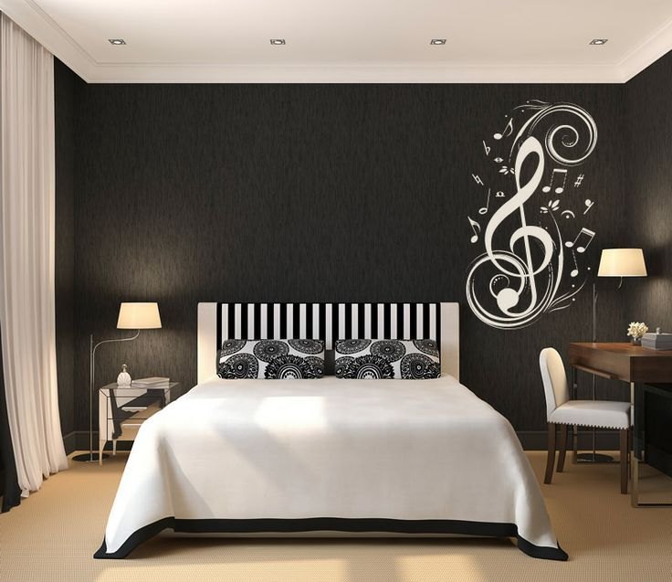 Teen Room, Black And White Theme Of Boys Bedroom Concept ...