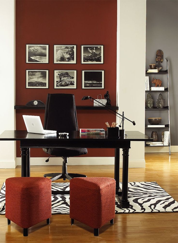 choose colors and finishes that complement other elements on office accent wall color id=94167